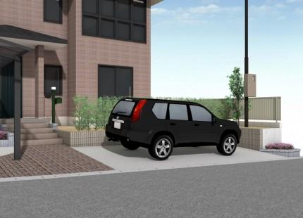 駐車場増設パース