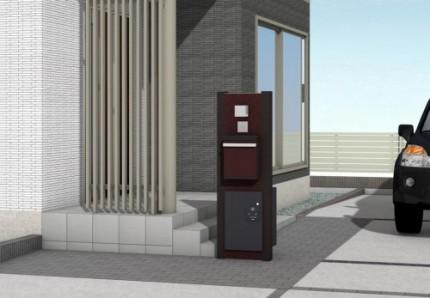 タカショー 宅配ボックス付門柱