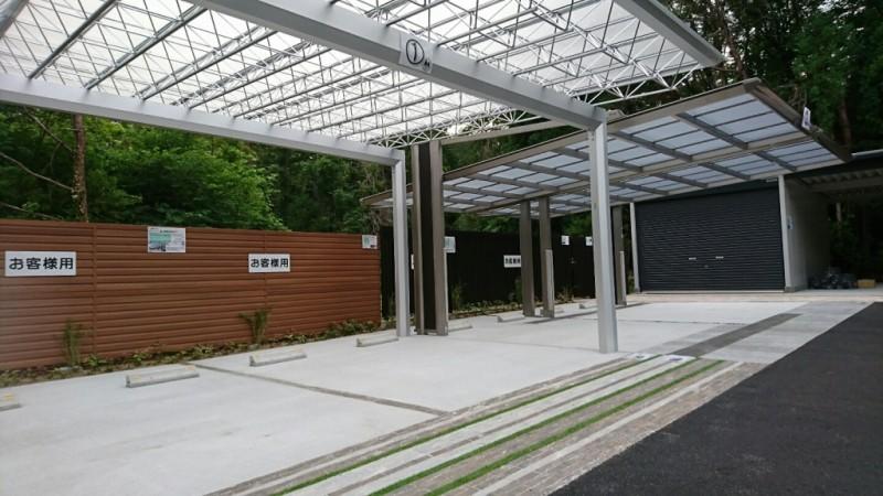 グリーンケア展示場 駐車スペース