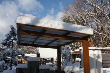 カーポート積雪