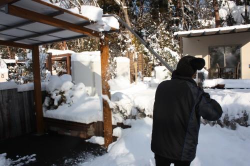 おっとせい雪おろし