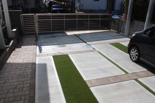 駐車場の床デザイン